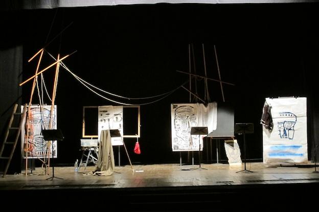 Teatro Civico, Vercelli installazione teatrale