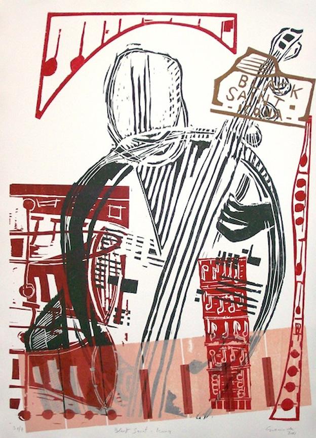 black saint icona - archivio